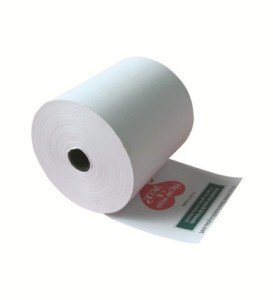 3 1/8'' Printed thermal paper roll